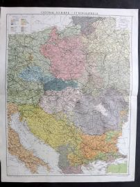 Gross 1920 Large Map. Central Europe - Ethnographical